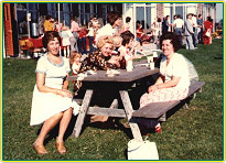 Vintage Photo of Women at Picnic Table